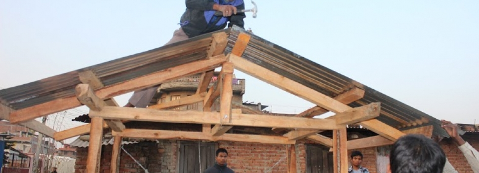 Hands on training to build earthquake resistant home